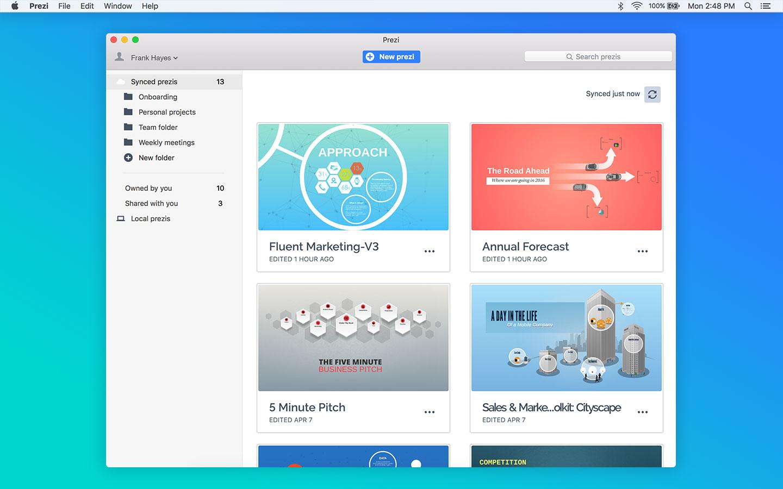 Prezi Pro for Mac 5.2.8 破解版 – Mac上富有创意的演示文稿制作软件-麦氪派(WaitsUn.com)